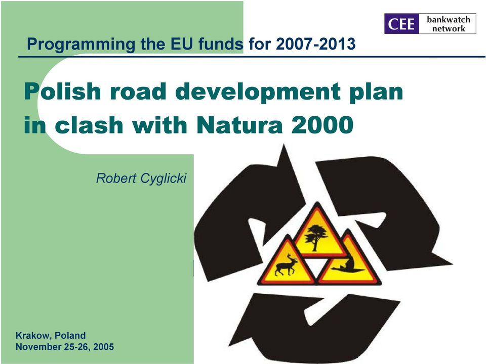 plan in clash with Natura 2000