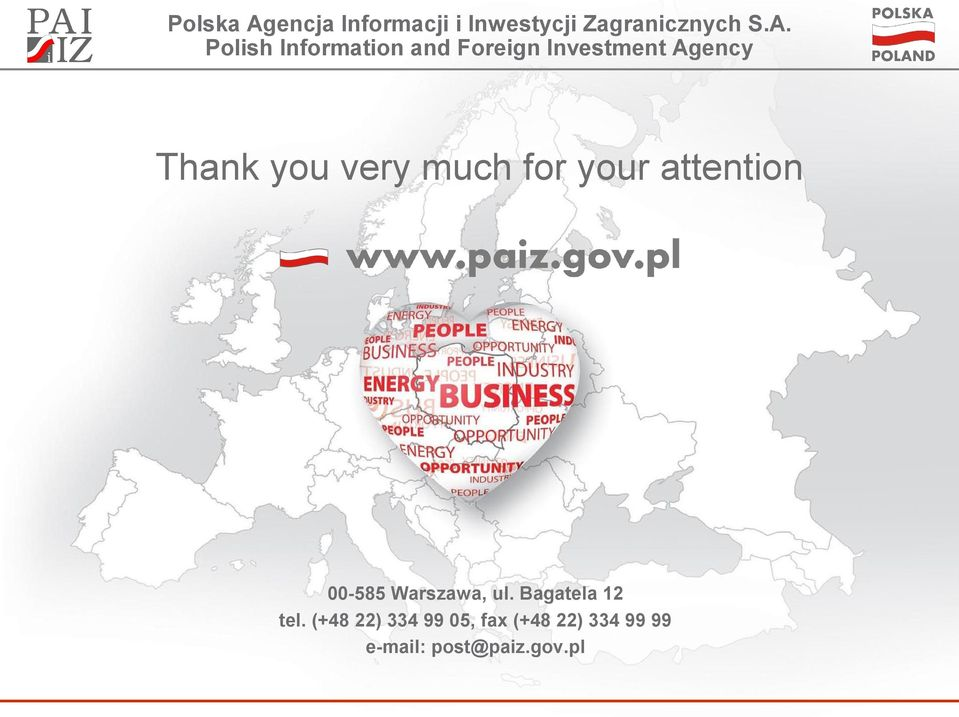Polish Information and Foreign Investment Agency Thank you