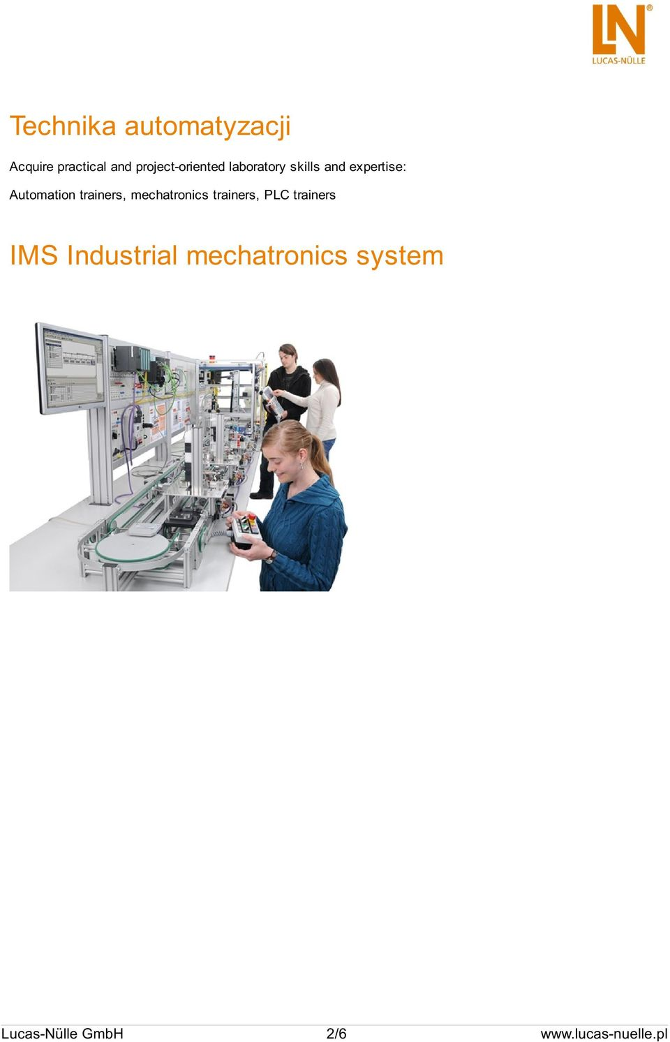 Automation trainers, mechatronics trainers, PLC trainers