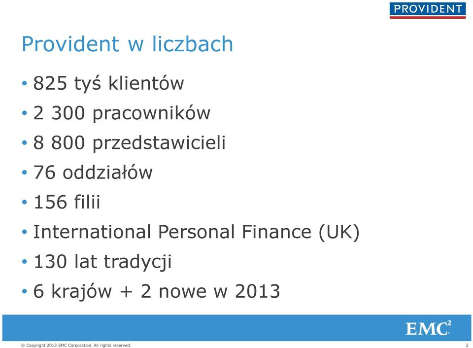 oddziałów 156 filii International Personal