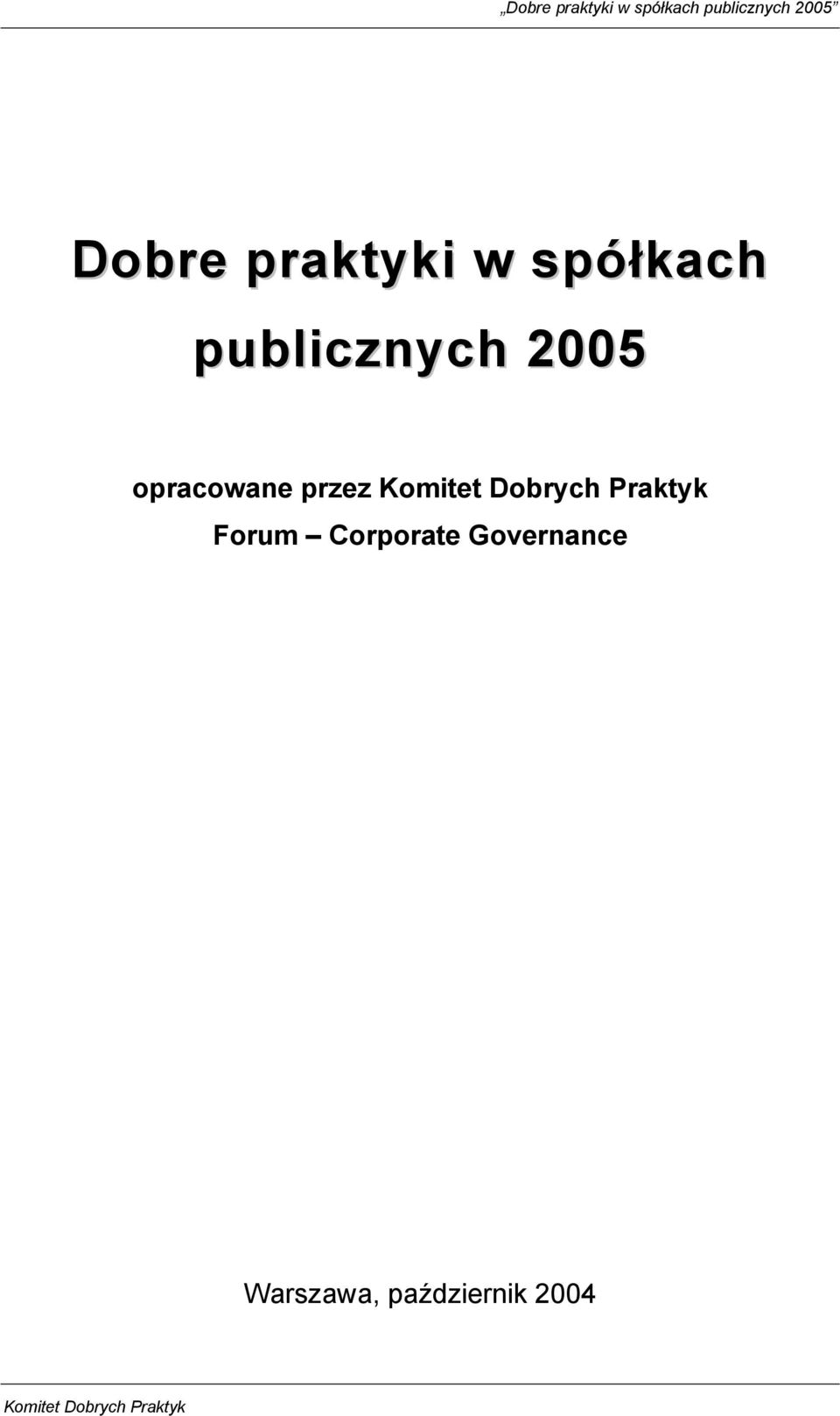 Praktyk Forum Corporate Governance
