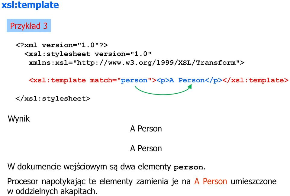 "org/1999/xsl/transform""> <xsl:template match=""person""><p>a Person</p> </xsl:stylesheet>"
