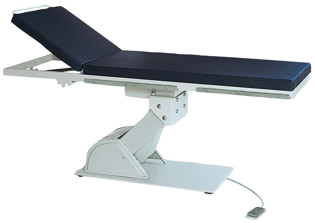 2072 EXAMINATION TABLE with 1 Motor Electrically adjustable height Gas spring adjustable headrest Table Height : 510mm - 880 mm TableLengh :1950mm Table Width : 650mm Table Base : 500mm x 980mm Head