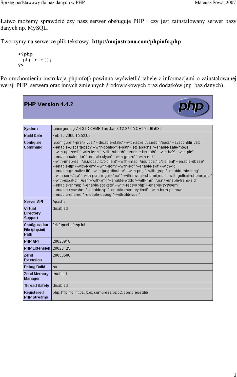 php phpinfo();?