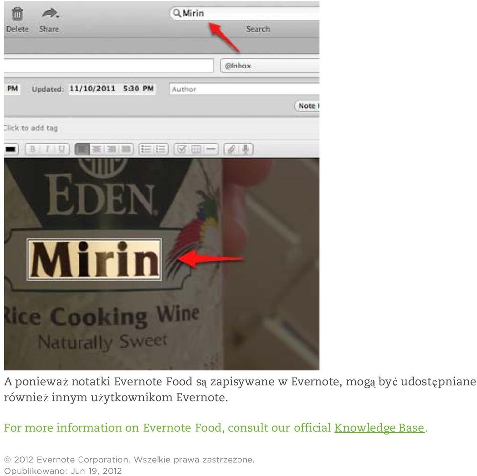 For more information on Evernote Food, consult our official