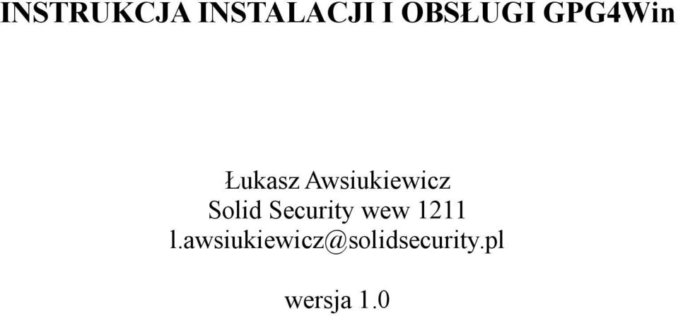 Solid Security wew 1211 l.