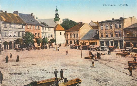 Market Square with the eastern frontage and perspective of Krakowska Street. 1911. Ryc.