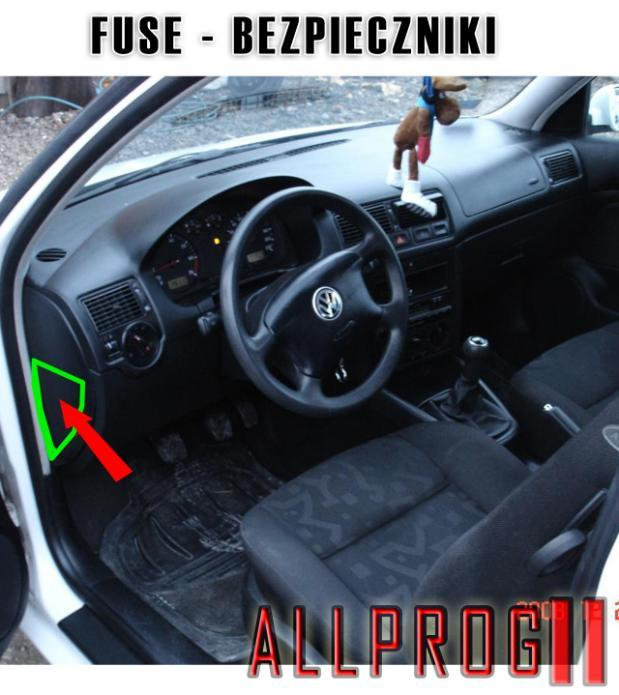 AFTER OPERATION YOU MUST DISCONECT ACU OR REMOVE FUSE FOR RESTART ODOMETER PO ZROBIENIU LICZNIKA ZDJĄĆ KLEMĘ LUB WYJĄĆ 2 BEZPIECZNIKI OD ZASILANIA LICZNIKA Z BOKU KONSOLI WARTOŚĆ =5A CONNECT ALLPROG