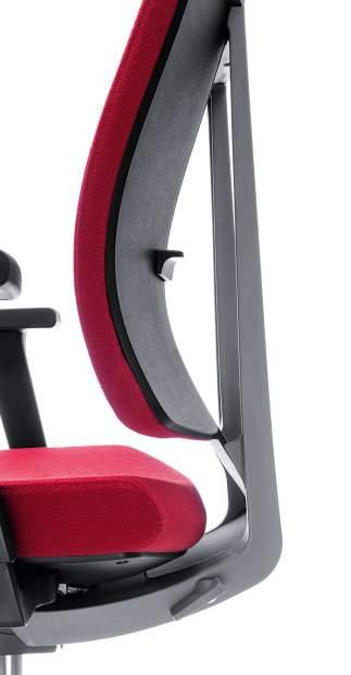 A freely adjustable backrest contour that best fits you.
