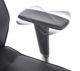 In the SL type, adjustment of the angle between seat and backrest is