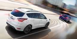 NOWY FORD KUGA Pakiety wyposażenia Pakiet Driver Assistance (AB1BH) Active City Stop Blind Spot Information (BLIS) z Cross