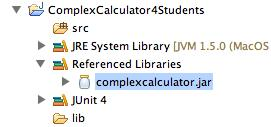 Ćwiczenie 1. Zaimportuj projekt z pliku ComplexCalculator4Students.zip (File->Import->Existing Project Into Workspace).