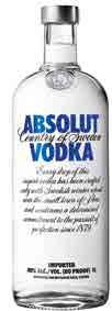 46,49 Z VAT 57,18 ABSOLUT BLUE 40% VOL.