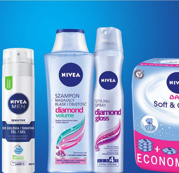 50 ml 11,49 (14,13 BRUTTO) Żel do golenia Nivea Men opak.