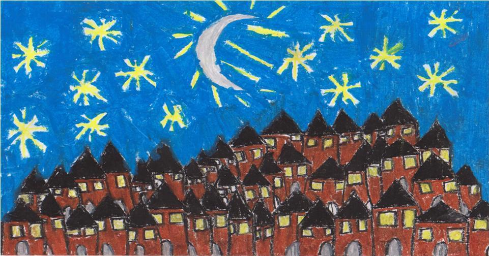 One cold, winter night, a bright moon surrounded by millions of stars was shining over a Silesian town.