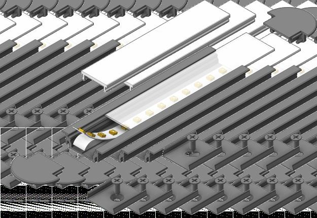 GROOVE4 EF/ Recessed LED Profile Profil LED