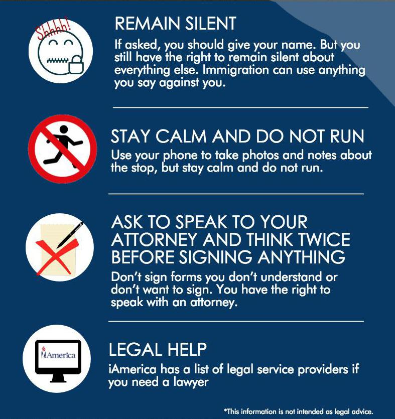 KNOW YOUR RIGHTS: WHAT TO DO IF