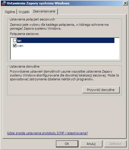 Windows Firewall, Routing i dostęp zdalny, ang. Routing and Remote Access, Agent zasad IPsec, ang.