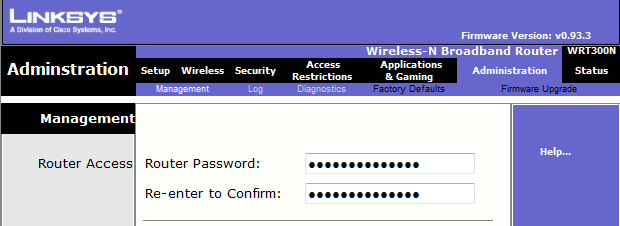 Zmieniamy pola: Router Password, Re-enter to Confirm: 23.