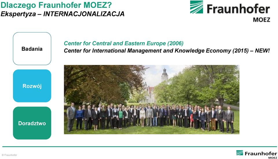 for Central and Eastern Europe (2006) Center for