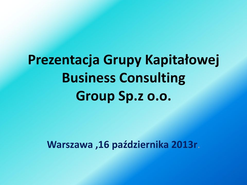 Consulting Group Sp.z o.