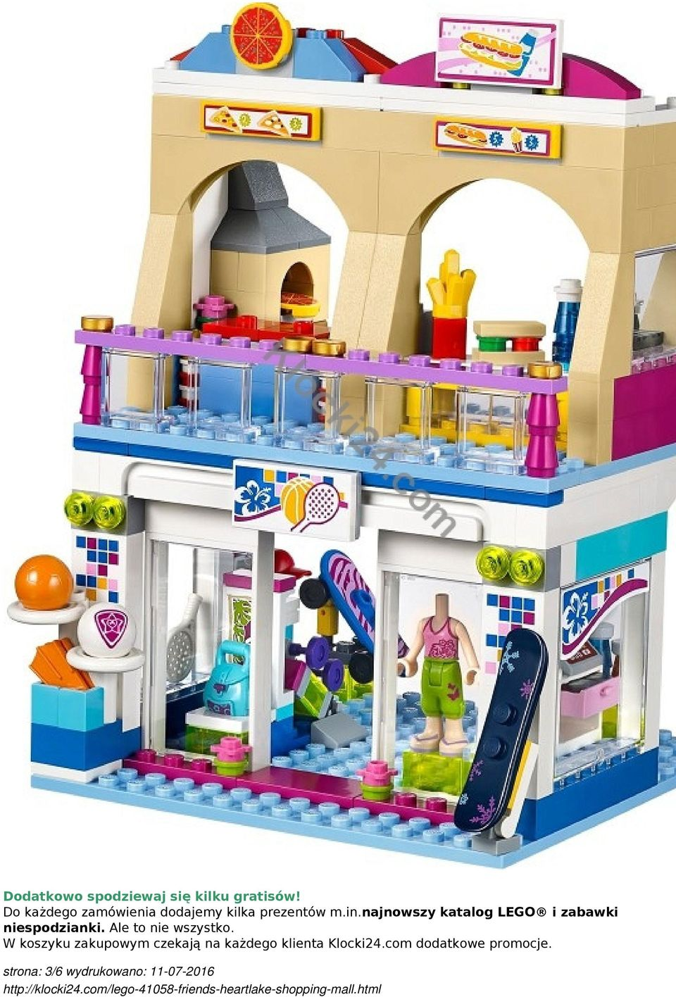 Lego Friends Heartlake Shopping Mall kod produktu: kategoria